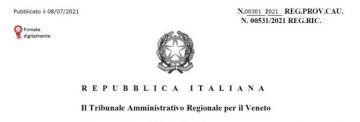 Delibera OSS Veneto: il Tar la sospende. L'udienza di merito fissata al 15 dicembre